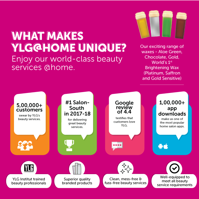 YLG @ Home Salon & Beauty Spa, Doorstep Beauty Services for Women